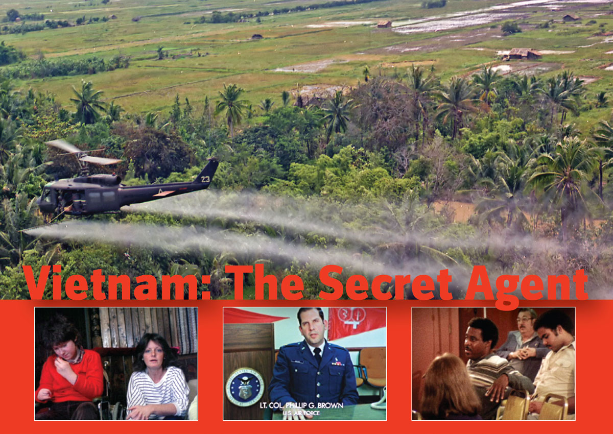 DVD Cover Photo of Huey Helicopter Spraying Agent Orange in Vietnam